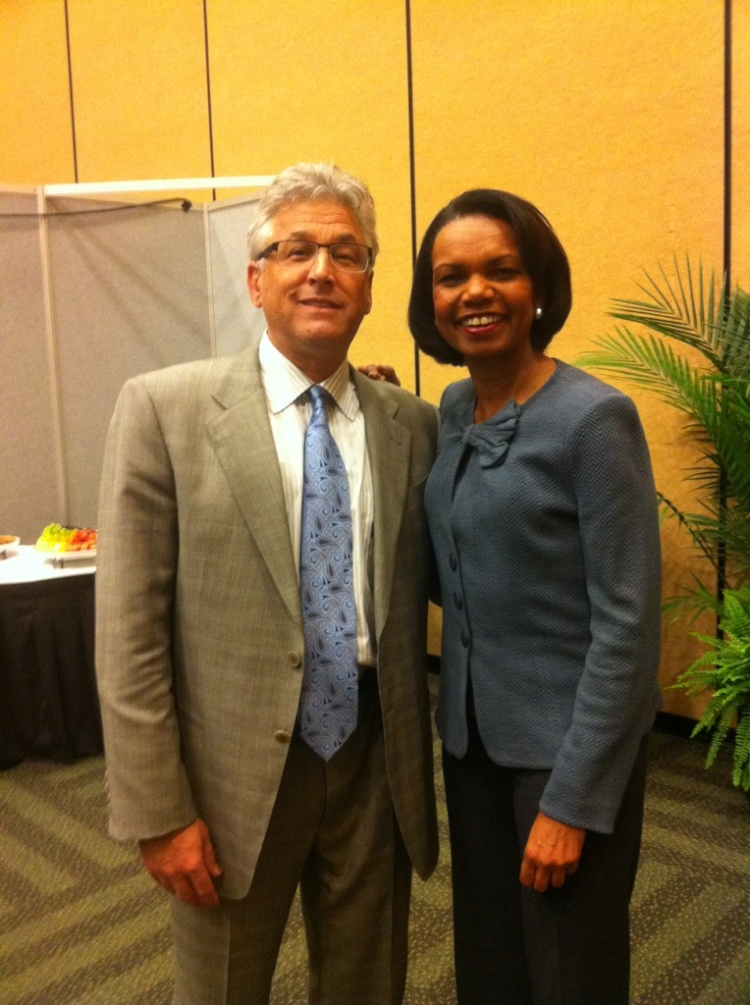 Ed Tonkin and Condoleezza Rice